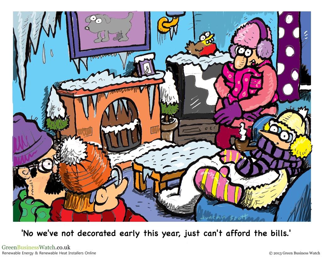 Energy Prices Are Freezing Cartoon