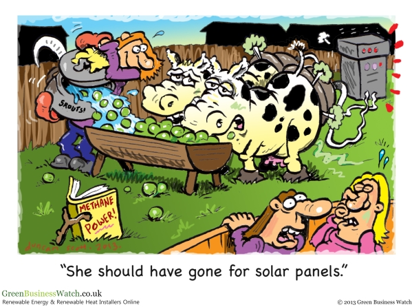 Methane Power or Solar Cartoon