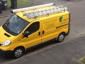 Going Green Renewables Van