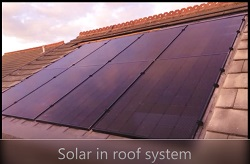In roof solar PV system