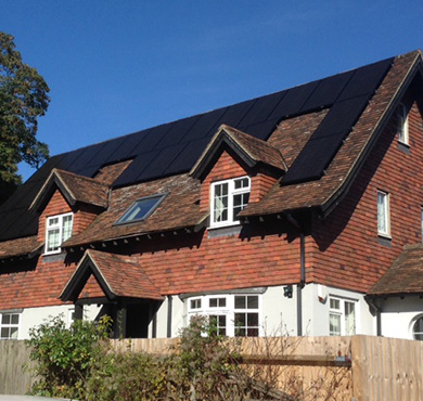 Tritec Solar Panels on Country House in West Sussex