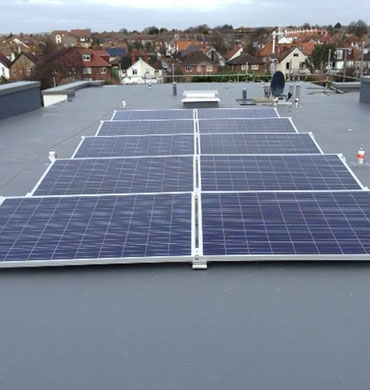 Tritec Solar Panels on New Build in Hove