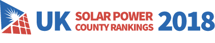 UK Solar Panel County Rankings 2018