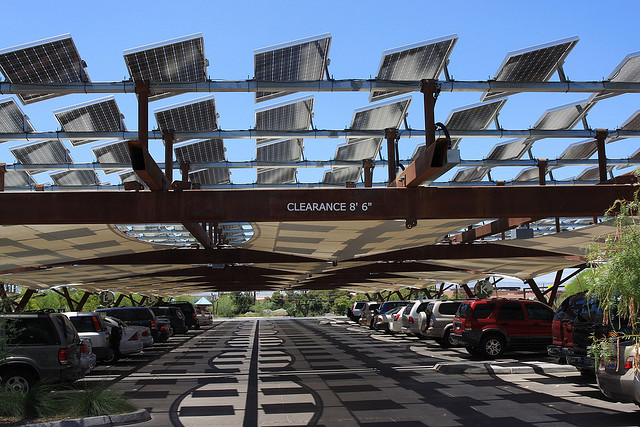 Solar Panels Shading Cars in Las Vagas