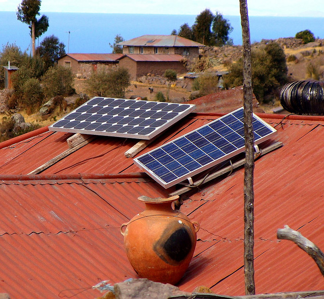 Solar Panels on Taquile Island